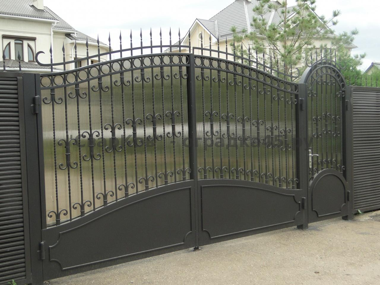 Ворота из металла фото 5