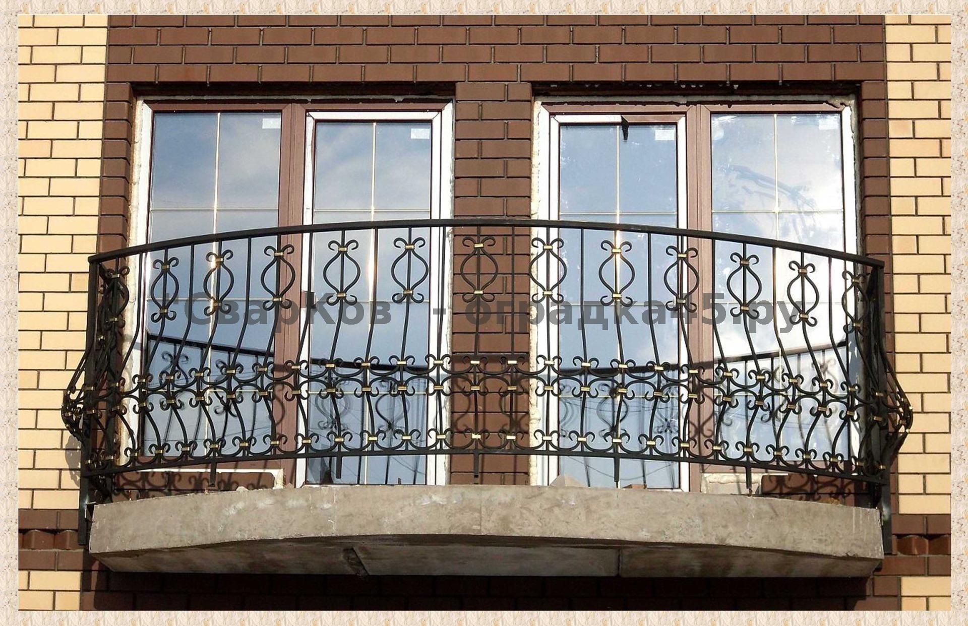 Кованые балконы (66 фото): ограждения, перила, решетки и вне.
